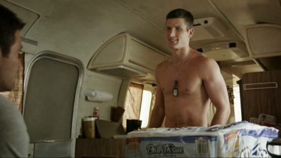 enlisted tp parker young shirtless