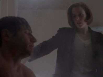 x files demons scully shower