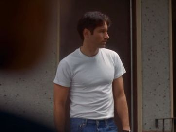 x files mulder white t shirt demons