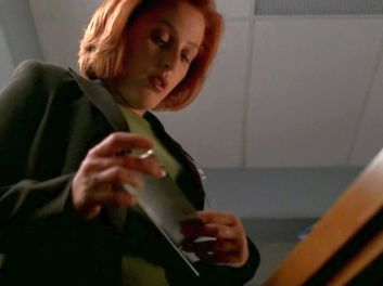 xfiles patience scully name plate