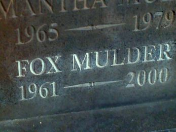 xfiles within mulder tombstone