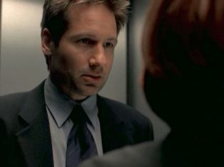 He's so focused on her. There is nothing in the world right now but Scully's health.