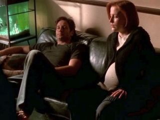 xfiles three words mulder couch
