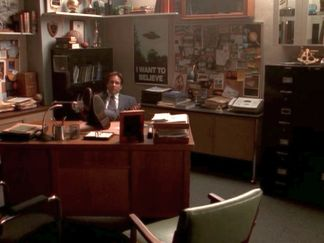 xfiles three words mulder office