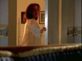 xfiles improbable scully door happy