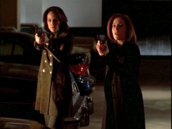 xfiles improbable scully monica guns