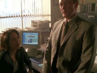 xfiles sunshine days monica excited desk