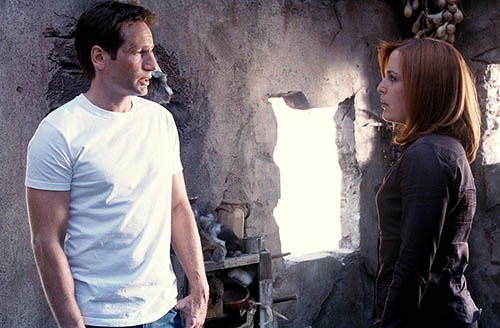 Mulder (David Duchovny, L) and Scully (Gillian Anderson, R) search for the truth in the series finale of THE X-FILES airing Sundy, May 19th (8:00-10:00 PM ET/PT) on FOX. ª©2002 FOX BROADCASTING COMPANY.  CR:  Larry Watson/FOX.