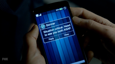 Mulder's phone has never been at 82 percent battery. It's never been higher than 12 percent, I'm sure of it