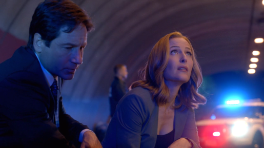 xfiles founders scully tunnel police lights